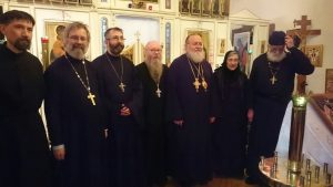 Metropolitan Hilarion Ordains Monk Mark (Underwood) to the Holy Priesthood