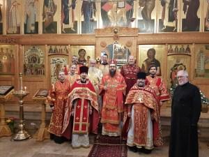 Протоиерей Ярослав Гудыменко был награжден палицей в великий четверг, в Лондоне. | Archpriest Yaroslav Hudymenko Receives the Palitsa at the Divine Liturgy of Great Thursday.