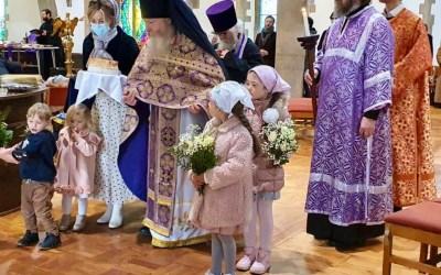 Bishop Irenei Celebrates the Final Sunday of Great Lent in Cardiff, Wales. | В неделю пятую Великого поста Епископ Ириней возглавил богослужение в Кардиффе, Уэльс