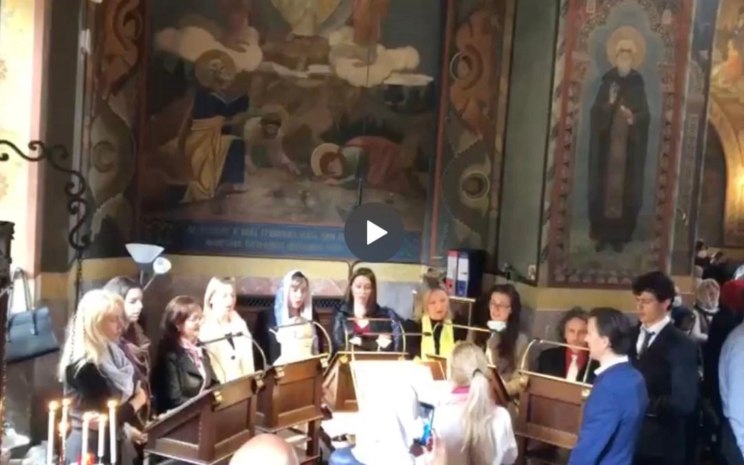 VIDEO: Paschal Canon and the Great Prokeimenon of Paschal Vespers, from the Florence Parish. | ВИДЕО: Канон и великий прокимен Пасхи, из прихода во Флоренции.