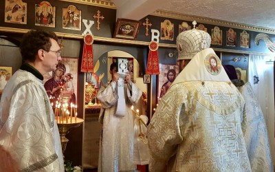 Bishop Irenei Celebrates the Liturgy of St Thomas Sunday at the Parish of St Alexander Nevsky in Norwich, England. | В неделю Фомину епископ Ириней возглавил воскресную литургию в приходе св. Александра Невского в Норвиче, Англия.
