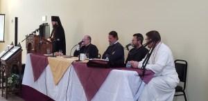 Bishop Irenei Addresses a Symposium on 'The Mother of God in Our Lives' in Los Angeles. | В Лос-Анджелесе Епископ Ириней принял участие в симпозиуме на тему «Богоматерь в нашей жизни».