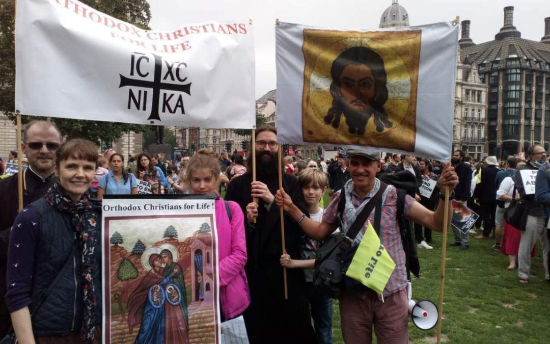 Diocesan Participation in the 'March for Life', London, 2021.   Шествие за жизнь 2021.